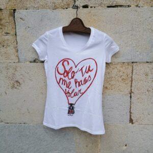 camiseta pico blanca solo tu