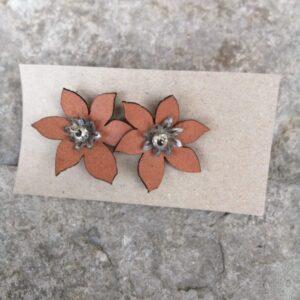 pendiente flor